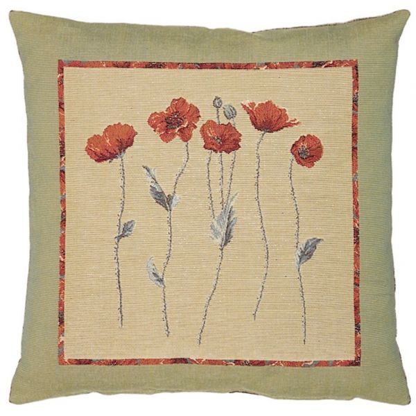 Poppies Tapestry Cushion - 46x46cm (18