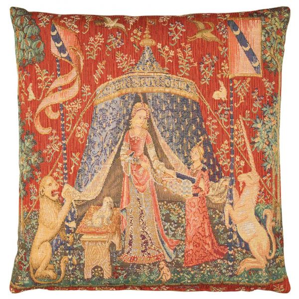 Lady with the Tent Tapestry Cushion - 46x46cm (18