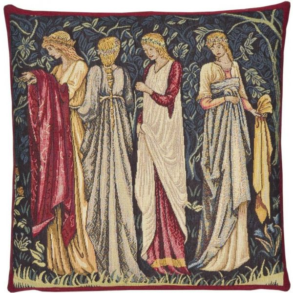 Ladies of Camelot Tapestry Cushion - 46x46cm (18
