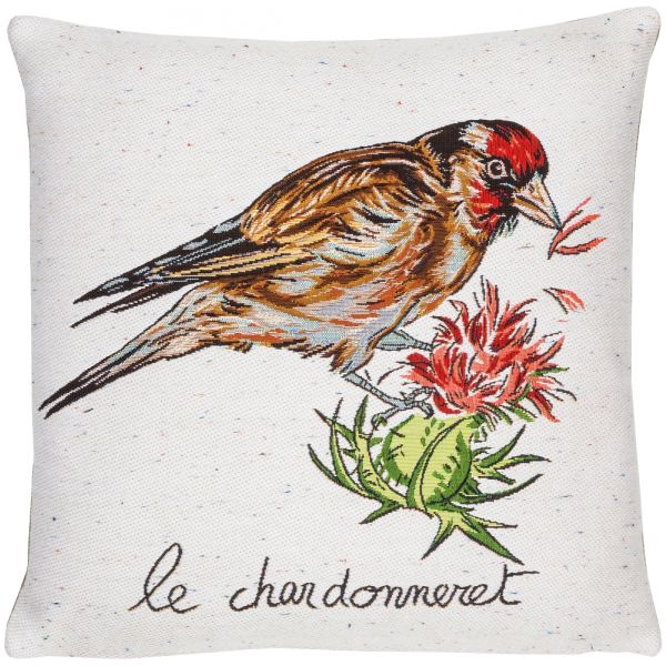 Gold Finch Tapestry Cushion - 46x46cm (18
