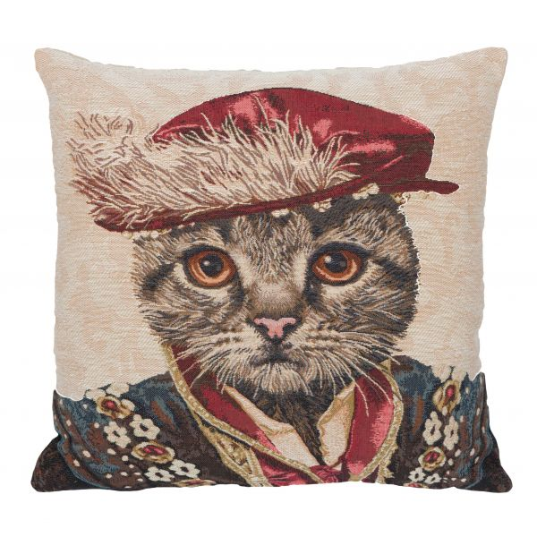 The Marquis of Carabas Tapestry Cushion - 46x46cm (18