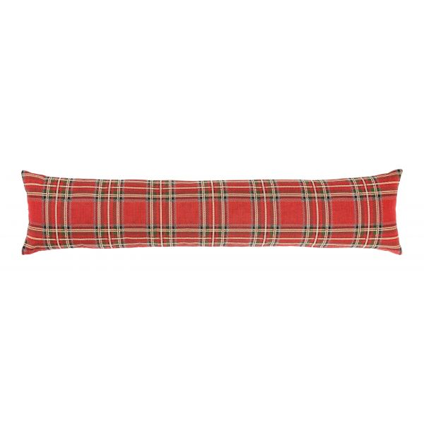 Red Tartan Draught Excluder - 90x20 cm (36