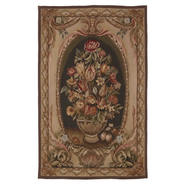 Bay Floral Small Handwoven Tapestry - 140 x 88 cm (4'6