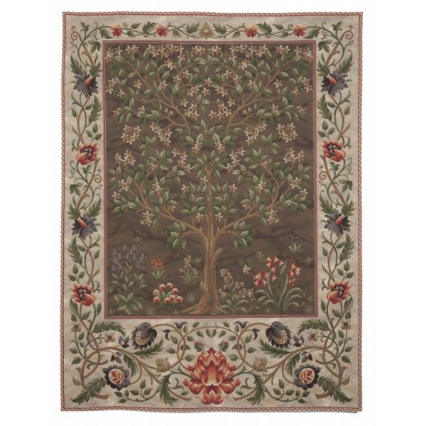 Tree of Life Loom Woven Tapestry - Brown  - 175 x 140 cm (5'9