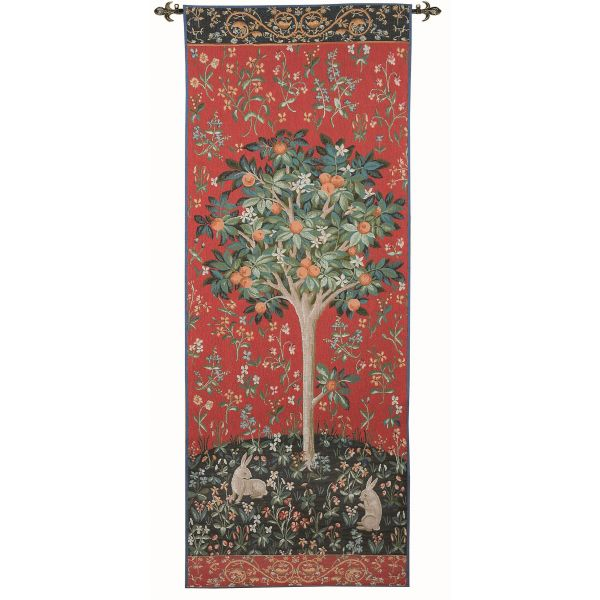 Medieval Tree Portiere Loom Woven Tapestry - 185x70cm (6'1