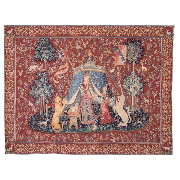 Lady with Unicorn - Tent Loom Woven Tapestry - 3 Sizes Available