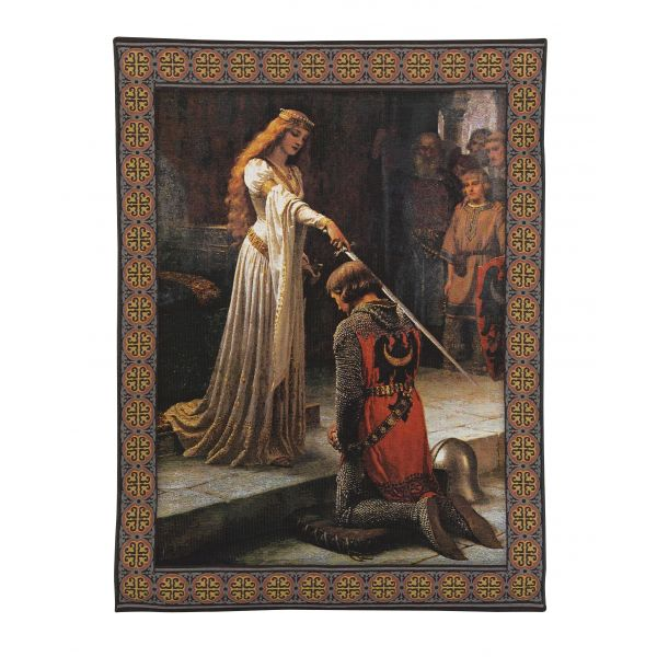 Knighting Ceremony Loom Woven Tapestry - 140 x 100 cm (4'7