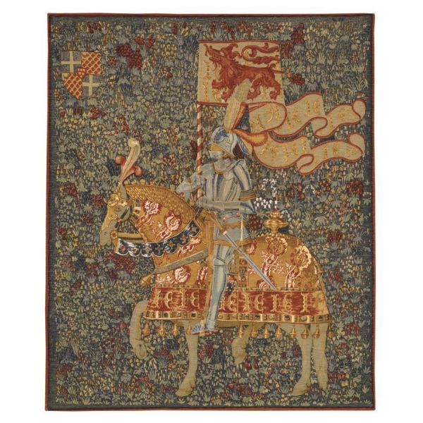 Knight at Montacute Silkscreen Tapestry - 2 Sizes Available