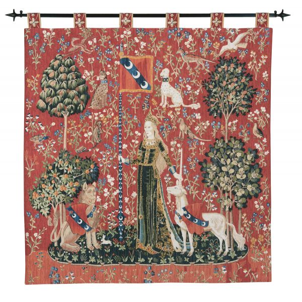 Lady with the Unicorn - Touch Silkscreen Tapestry - 136 x 132 cm (4'6