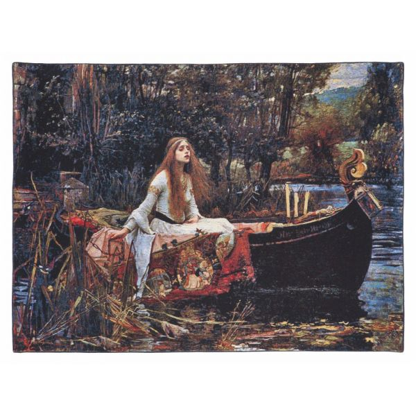 Lady of Shalot Loom Woven Tapestry - 74 x 97 cm (2'5