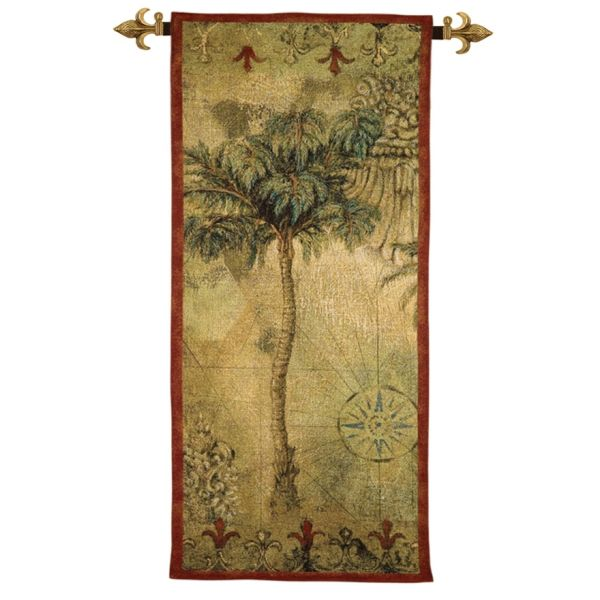 Exotic Palm Loom Woven Tapestry - 134 x 61 cm (4'5