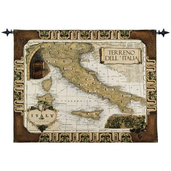 Italian Wine Country Loom Woven Tapestry - 106 x 132 cm (3'6